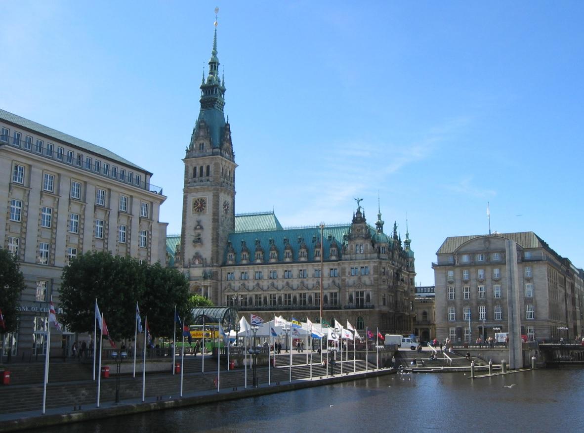 Rathaus und Zentrum von Hamburg