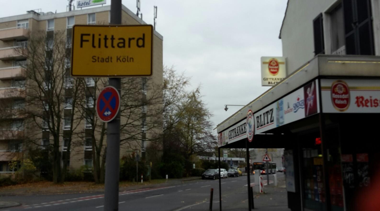 Köln Flittard Ortseingang